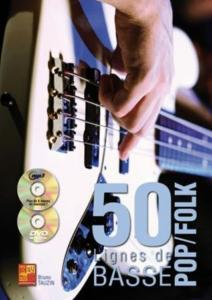 TAUZIN Bruno - 50 Lignes de Basse Pop/Folk, avec CD & DVD
