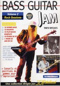 MALAPERT Gilles - Bass Guitar Jam Vol.2 Rock Sessions, avec CD