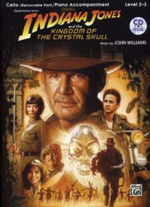 INDIANA JONES and The Kingdom of The Crystal Skull Cello, CD, pour violoncelle et piano